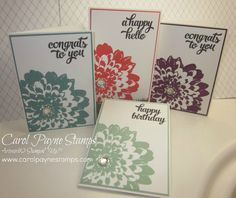 Stampin' Up!, DIY Crafts, handmade Christmas gifts,Definitely Dahlia, Tin of Cards, More info about Santa's Workshop 2015 on my blog:http://www.carolpaynestamps.com/2015/11/stampin-up-santas-workshop-project.html