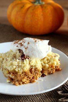 Pumpkin Crunch Dump Cake  - CountryLiving.com