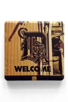 Detroit Tigers coaster from Pure Detroit $12
