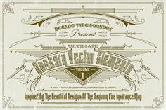 Check out Sanborn Vector Elements by Decade Type Foundry on Creative Market