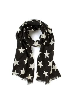 Large Star Scarf in Black from Country Road