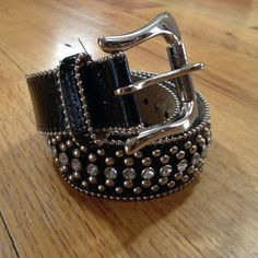 • Guess • Guess rhinestone belt. Synthetic leather. 40 inches long. 1.5 inches wide. Excellent condition. Guess Accessories Belts