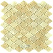 "Clear View - Marble Mosaics Honey Onyx Tumbled 12"" x 12"" Mesh Backed Sheet - ( CV-52179 )"