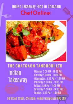 The Chatgaon offers delicious Indian Food in Chesham, Hemel Hempstead Browse takeaway menu and place your order with ChefOnline. Order Takeaway, Hemel Hempstead, Indian Food Recipes, Ethnic Recipes, A Table, Menu, Delivery, Restaurant, Fresh