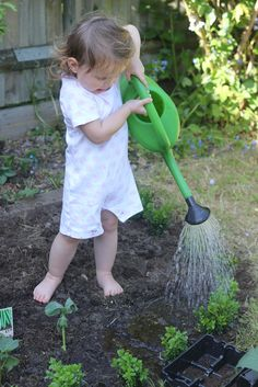 Making an Organic Vegetable Garden with Children - The Imagination Tree...God, please let me have a yard before Sophia grows up--I want toddler feet in the soil!