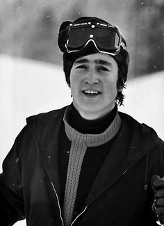 John Lennon (goes on holiday with wife Cynthia Powell-Lennon and producer George Martin & wife Judy to St. Moritz, in the Swiss Alps beginning January 25,1965. The couples returned to England on February 7,1965 after nearly 2 weeks away)
