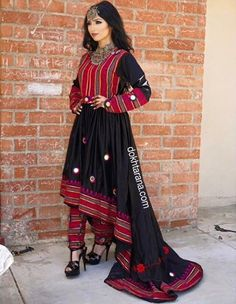 #afghan dress #black #national dress