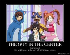 Funny Anime Motivational Posters | demotivational poster demotivational posters funny anime ...Lol ah poor Lulu and Suzu...