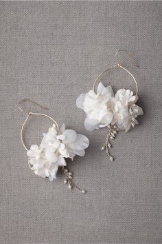 Ikebana Earrings in SHOP Shoes & Accessories Jewelry Earrings at BHLDN Shop accessories for women at Wedding Earrings, Diy Earrings, Flower Earrings, Earrings Handmade, Bridal Accessories, Wedding Jewelry, Jewelry Accessories, Jewelry Design, Lighting Accessories