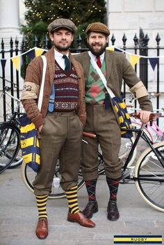Stylin' the sweet threads! London tweed run 2011...x