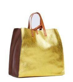 Borsa Manila Grace Felicia bag g00201 md506 citron cuoio reversibile large fw 16/17
