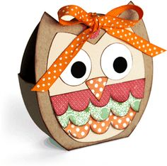 Silhouette Design Store: owl tote box by Lori Whitlock Silhouette Projects, Silhouette Design, Crafts For Teens, Gifts For Kids, Silhouette Online Store, Owl Punch, Diy Box, Card Sketches, Box Design