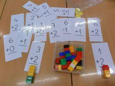 Using LEGO to Build Math Concepts. Source here Creating Math Patterns with Golf Tees. Montessori Math, Preschool Math, Kindergarten Math, Teaching Math, Math Addition, Addition And Subtraction, Fun Math Games, Activities For Kids, Build Math