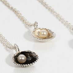 Wedding jewellery - sea shell pendant for the bride and bridesmaids