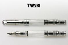 TWSBI Diamond 580, a classic fountain pen with a piston ink-filling system. By fusing the traditional mechanisms of the fountain pen with a modern industrial design, we have created an eye-catching fo