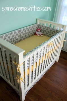 DIY crib bumper.. For sure have to do this depending on how much fabric is