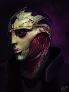 Mass Effect: Thane Krios by Ruthie Hammerschlag- Ya know, I let him die, but he was the only character whose death was satisfactory. He accomplished all he needed.