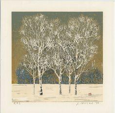 "Hoshi, Joichi (1911-1979), ""Clump of Trees in Winter"", Castle Fine Arts"