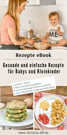 Rezepte eBook eBook: Healthy and simple recipes for babies and toddlers - from the month - suitable for baby led weaning - no hours of cooking and baking - no fancy ingredients - including ages an Baby Food Recipes Stage 1, Kids Meals, Easy Meals, Vegetarian Recipes, Healthy Recipes, Simple Recipes, Organic Recipes, Maila, Baby Puree Recipes