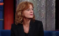 Actress Susan Sarandon says she fears Hillary Clinton's war record more than she fears Donald Trump's plan to build a wall at the U.S.-Mexico border.
