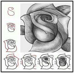 Βήματα για να ζωγραφίσουμε ένα τριαντάφυλλο