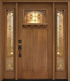 Craftsman Style Front Door Beautiful Craftsman Front Door Designs All Design . A Bungalow Makeover An Enchanting Bungalow Craftsman . Wake Up A Tired Front Entry With A New Front Door The Blade. Home and Family Craftsman Front Doors, Wood Front Doors, Front Door Decor, Garage Doors, Wooden Doors, Mission Style Homes, Craftsman Style Homes, Craftsman Bungalows, Craftsman Interior