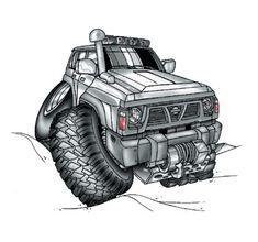 where the hel did the road go? Nissan Patrol, Patrol Y61, Monster Car, Monster Trucks, Nissan 4x4, Nissan Terrano, Offroader, Mitsubishi Lancer Evolution, Nissan Pathfinder