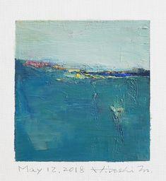 "May 12, 2018 9 cm x 9 cm (app. 4"" x 4"") oil on canvas © 2018 Hiroshi Matsumoto www.hiroshimatsumoto.com"