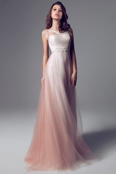 Beautiful ombre wedding dress