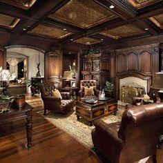 Beautiful interiors, mansions, estates, home decor, luxurious designs, elegant home office