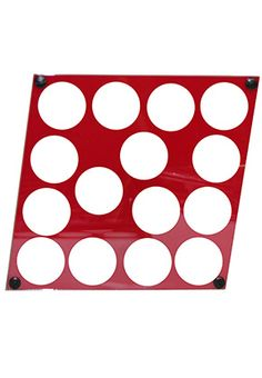 Chip Frame Acrylic Diamond | Chip Cases And Racks Diamond-shaped red acrylic chip frame holding 15 chips with attached hooks for hanging. Both sides view able. $19.99 www.gamblersgeneralstore.com