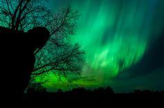 Self Portrait under the Northern Lights 2015