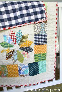 Ten June: Custom Baby Boy Quilt Bedding from Etsy