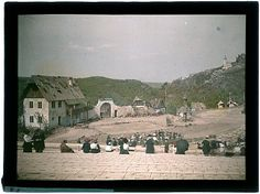 "Autochrome: Open air performance of ""The Bartered Bride"". Šárka, Prague. 1913."
