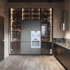 Эскизное предложение для застройщиков дизайна квартиры