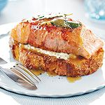 You've got to try this West Coast salmon saltimbocca recipe from chef Gail McCully of Port Alberni, B. Photo by Joe Kim. Best Salmon Recipe, Delicious Salmon Recipes, Fish Recipes, Meat Recipes, Seafood Recipes, Cooking Recipes, Seafood Dishes, Yummy Recipes, Yummy Food