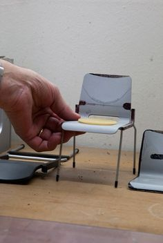 Dieter Rams, a prototype for a chair, Rams House, Kronberg, Frankfurt, Germany