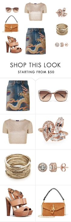 """""""Dragon Lady"""" by edith-a-giles ❤ liked on Polyvore featuring Gucci, Chloé, Topshop, Suzanne Kalan, Sole Society, Diamond Splendor, Steve Madden and J.W. Anderson"""