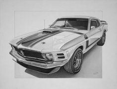 1969 Mustang Boss 302 by industrialrevelation on deviantART