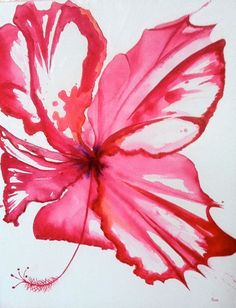 acrylic hibiscus painting - Google Search