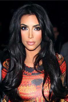 Kim Kardashian.. Make up, Hair, Dress on point!