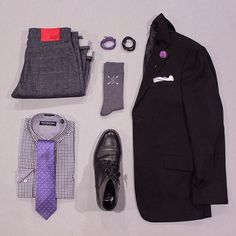 Time to go to purple! I have discovered I love wearing this color!  What do you think of this combo?   Tie: @weybridge1761   Shirt: @itsnickgraham   Socks: @thesouthernscholar use 'Hartman' for 20% off your first month   Bracelets: @archeusdesigns   Boots: @thursdayboots   Lapel: @howardmatthewsco   Pocket Square: @wearlapelpins   Denim: @sosobrothers   Blazer: Claiborne #flatlay #flatlays #flatlayapp www.flat-lay.com