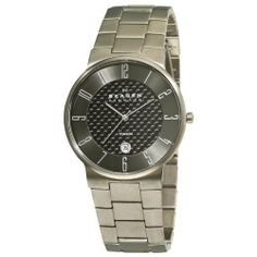 Skagen Men's C455XLTMXMC Titanium Grey dial and Bracelet Watch Skagen. $157.50. Grey dial. Quartz movement. Stainless steel bracelet. Titanium case. Water-resistant to 30 m (100 feet)