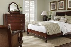 Ethan Allen Bedroom Furniture British Clics Island Style Sleigh Bed Monochromatic Clic