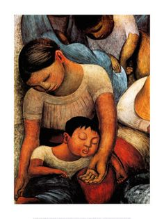 Diego Rivera [Mexican Social Realist Muralist, Oil paintings reproductions for sale. Museum quality at the lowest price. Diego Rivera Art, Diego Rivera Frida Kahlo, Mexican Artists, Mexican Folk Art, Mexican Style, Art Latino, Frida And Diego, Oil Painting Reproductions, Poster Prints