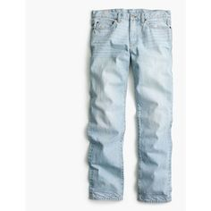 J.Crew 770 straight jean in Winslow wash ($85) ❤ liked on Polyvore featuring jeans, straight-leg jeans, zipper jeans, slim straight leg jeans, skinny fit jeans and slim straight jeans