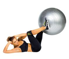 6 stability ball exercises for abs and butt