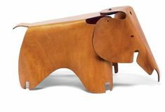 Elephant, an early version made from plywood by Charles Eames and Ray Eames, 1945.