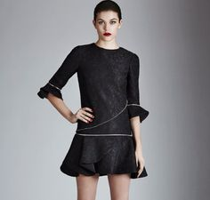 """black dress with removable zips """"Nieder"""" >> available in our stores and shop online"""