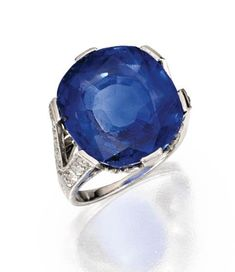 Lot 364 - Platinum, Sapphire and Diamond Ring